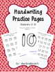 Handwriting Practice Pages - Outline Numbers 10-19