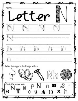 Handwriting Practice Pages, Upper & Lowercase. Seek & Find/Color Letters