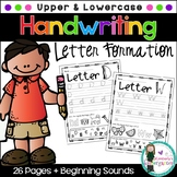 Handwriting Practice Pages, Upper & Lowercase. Seek & Find/Beginning Sounds
