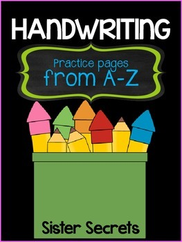 Handwriting Practice Pages from A-Z