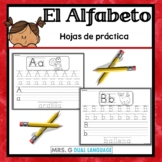 Spanish  Alphabet Handwriting Practice Pages