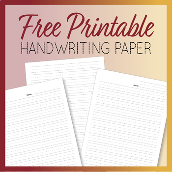 This is an image of Primary Paper Printable throughout pdf