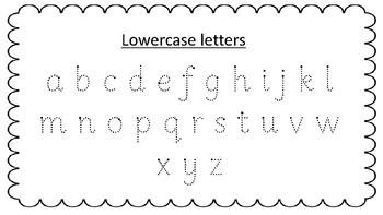 Handwriting Practice - Sassoon font!