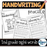 Handwriting Practice with Second Grade Sight Words Distance Learning