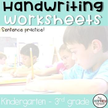Handwriting Practice - Sentences