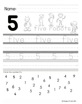 Handwriting Practice Sheets for Alphabet and Numbers