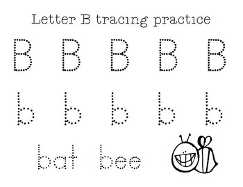 Letter Tracing Practice Sheets A-C