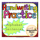 Handwriting Practice Sheets - Alphabet Sentences for Beginning Writers