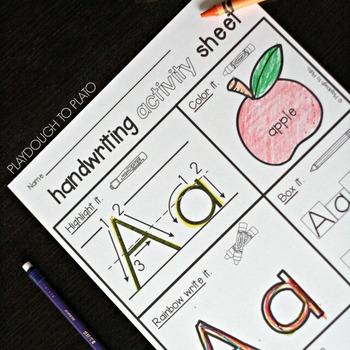 Handwriting Practice Sheets - FREE