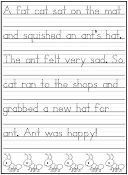 Handwriting Practice Sheets Letter Aa FREEBIE!