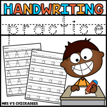 Handwriting Practice Sheets: Tracing Letters in Uppercase and Lowercase