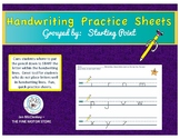 Handwriting Practice Sheets by Starting Point!