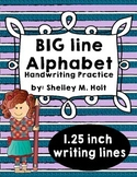Big Line Letter Handwriting Practice Sheets