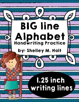 Big Line Letter Handwriting Practice Sheets