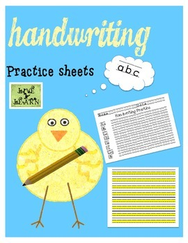 Handwriting Practice Sheets for PreK to 1st Graders