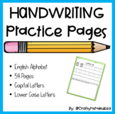 Handwriting Practice Sheets from A to Z