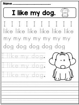 Handwriting Practice (Kindergarten)