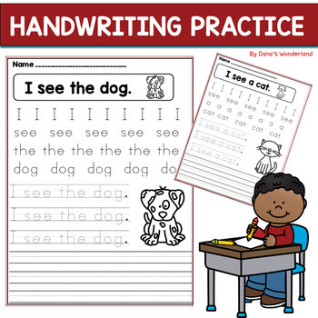 Handwriting Practice for Kindergarten or Struggling Writers