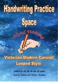 Handwriting Practice: Space Themed Passages - Victorian Modern Cursive Join