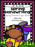Handwriting Practice - Spring Edition