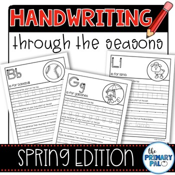 Handwriting Practice: Spring Edition
