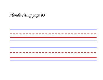 Colored Elementary Lined Handwriting Practice Template For Whiteboard