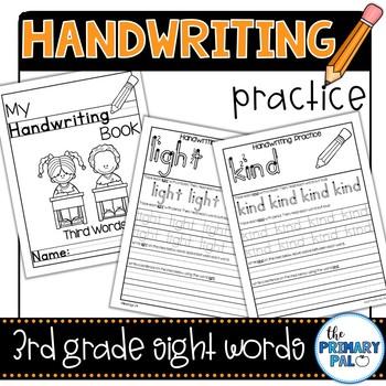 Handwriting Practice: Third Grade Sight Words