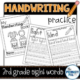 Handwriting Practice with Third Grade Sight Words