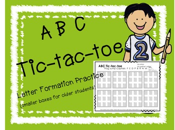 Handwriting Practice Tic-tac-toe