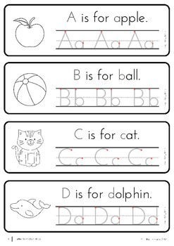 Handwriting Practice US Font - Sampler
