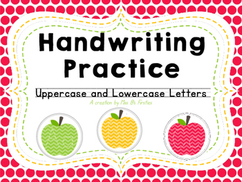Handwriting Practice- Uppercase and Lowercase Letter Tracing