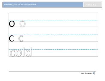 Handwriting Practice: Winter Wonderland!