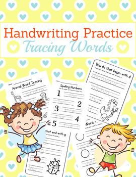 Handwriting Practice - Word Tracing (Alphabet, number, etc)