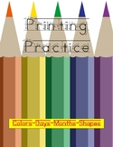 Handwriting Practice Workbook - Trace & Write Your Colors,