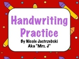 Handwriting Practice Worksheets