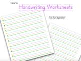 Handwriting Practice Worksheets (colored)