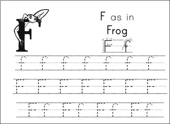 Handwriting the ABC's (Manuscript) - Theme: Frogs!
