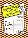 Handwriting Practice Worksheets – 'The Farm' Theme