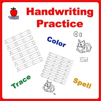 Handwriting Practice Bundle - Trace Letters, Spell Words and Color