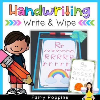 Handwriting Practice - Write & Wipe Mats (Zaner-Bloser font)
