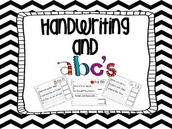Handwriting Practice and ABC's
