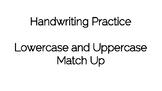 Handwriting Practice and Alphabet Match Up