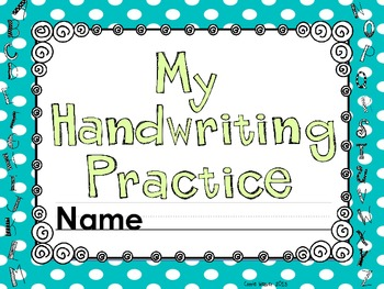 Handwriting Practice for K and 1