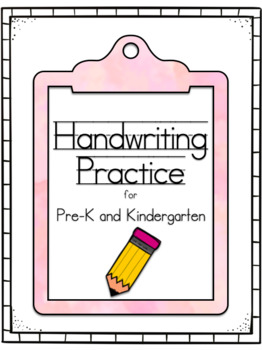 Handwriting Practice for Kindergarten and Pre-K