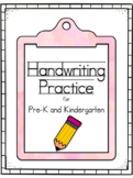 Handwriting Practice for Kindergarten and Pre-K