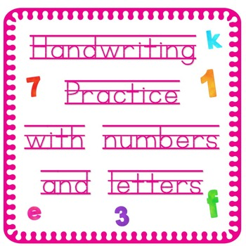 Handwriting Practice for Letters and Numbers