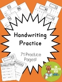 Handwriting Practice for Lower Elementary - 71 Activity Pages!