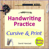 Handwriting Practice for Older Students + 123 Writing Prompts + 12 Editing...