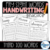 Handwriting Practice for the Third 100 Fry Sight Words