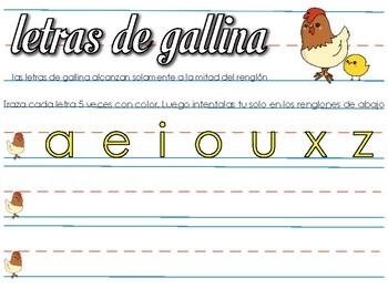 Handwriting Practice in Spanish